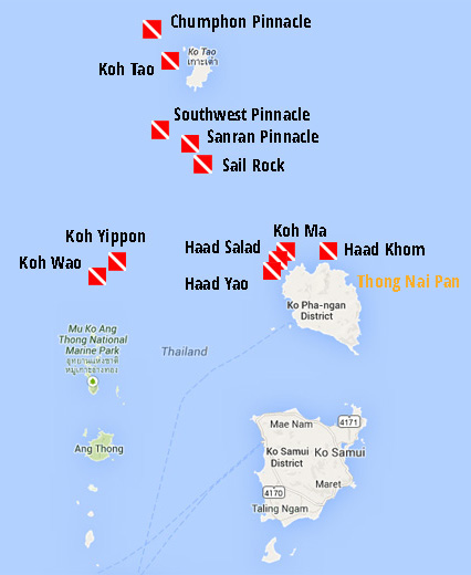 dive sites in Gulf of Thailand